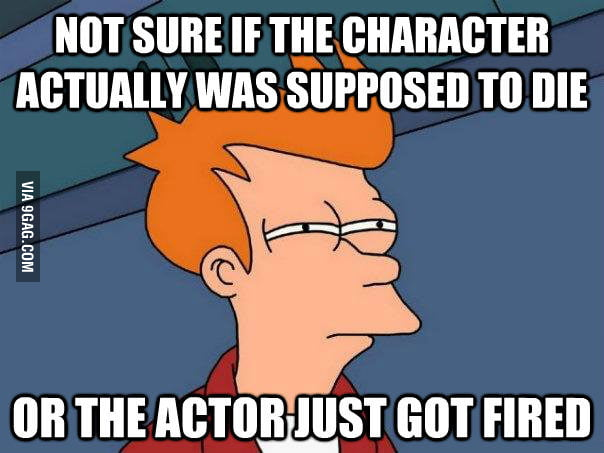 Every time there is a death in a TV show
