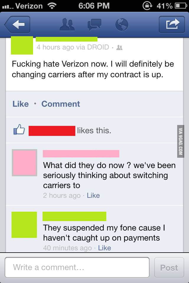 Douchebag Verizon!