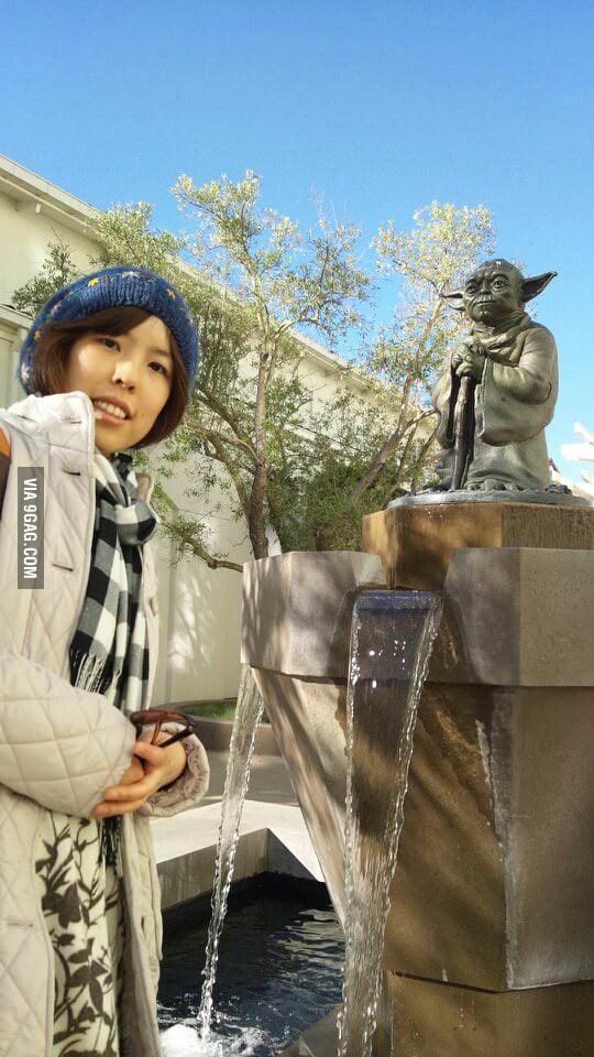 Found a Yoda fountain!