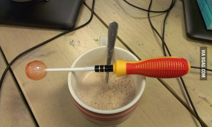 Lollipop screwdriver
