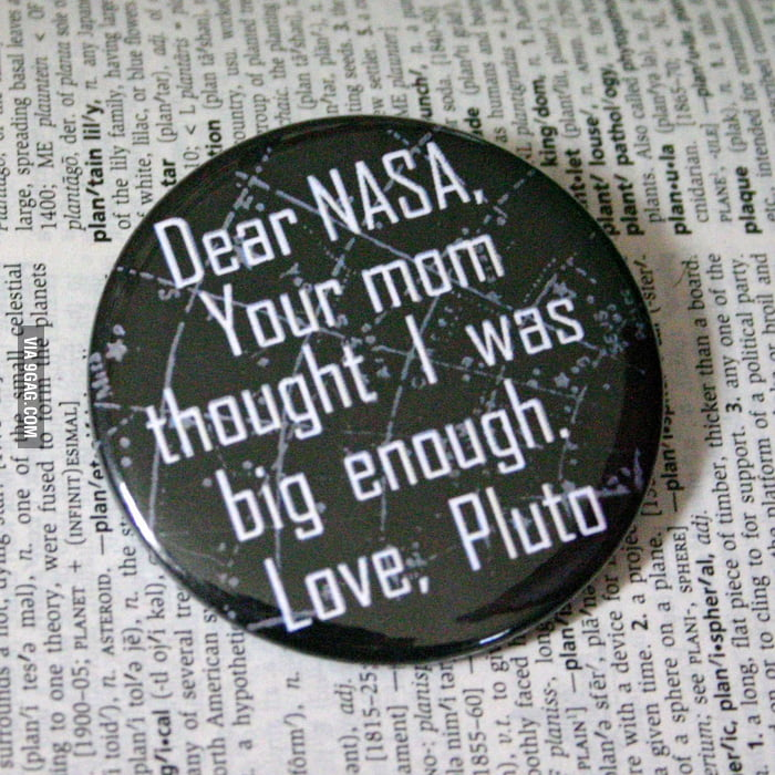 A message to NASA from Pluto.