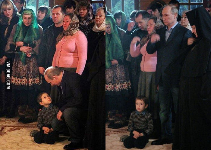 What did Mr putin say to the little boy?