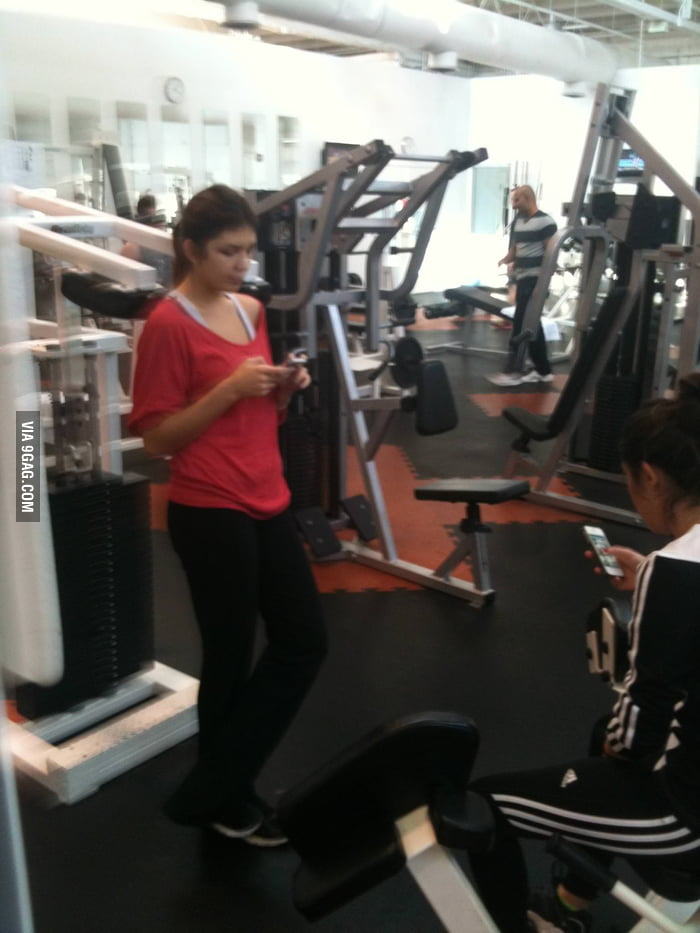 What girls do most at the gym.