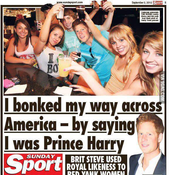 I am Prince Harry