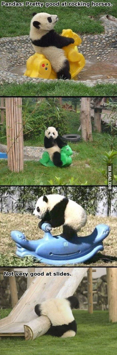 Pandas, not so good at slides