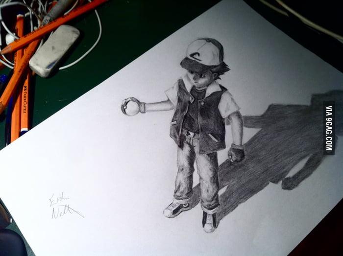 Ash 3D drawing