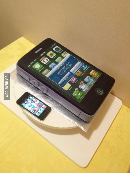 Awesome iPhone birthday cake!