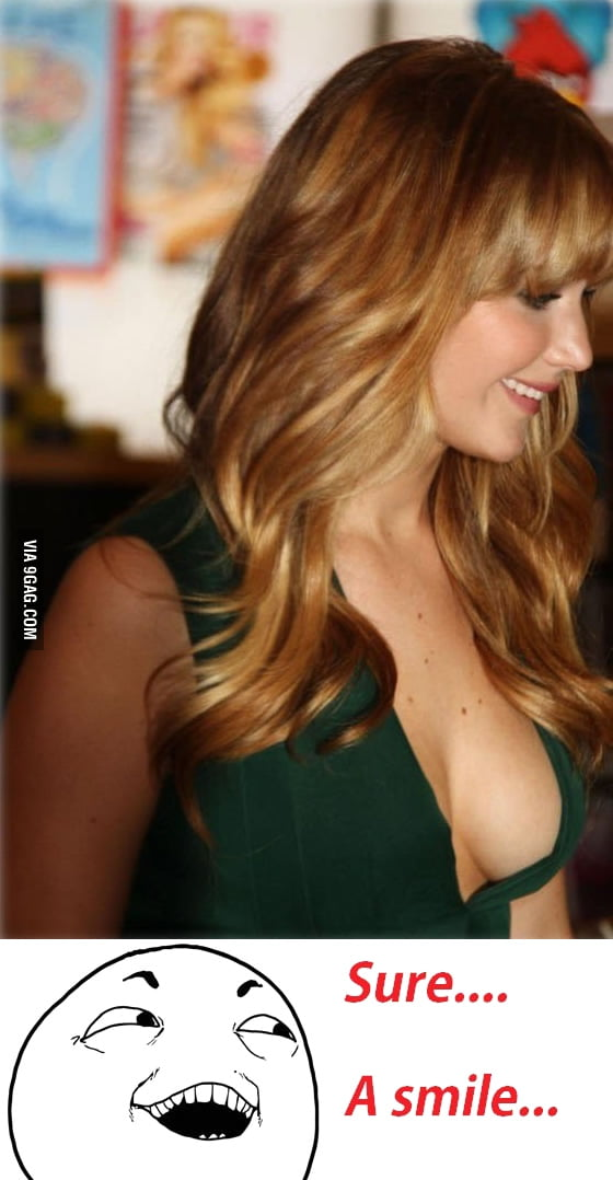 A friend said that Jennifer Lawrence has a nice smile