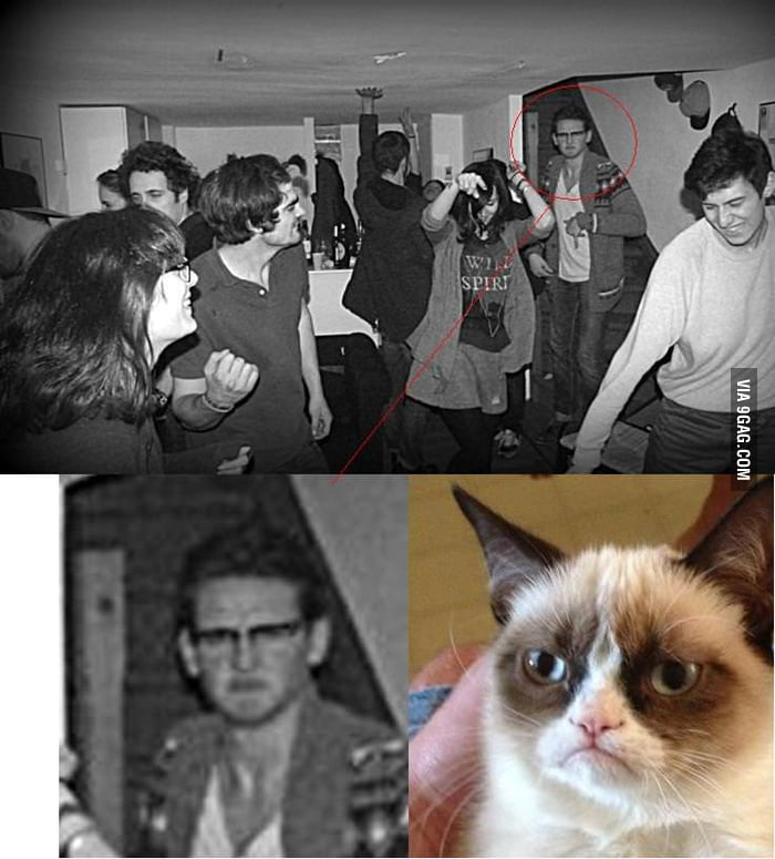 Grumpy cat was at my birthday party !