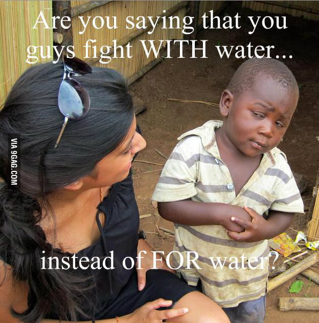 Sceptical african kid strikes once again