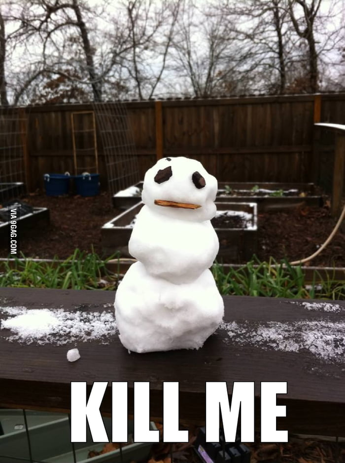 Poor Snow Man.