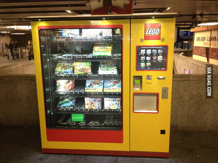 Saw a LEGO vending machine at the Munic