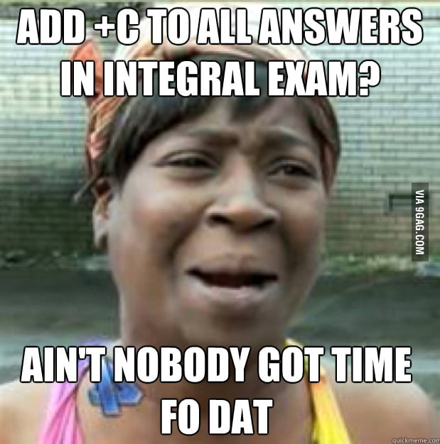Every single time during integral exam