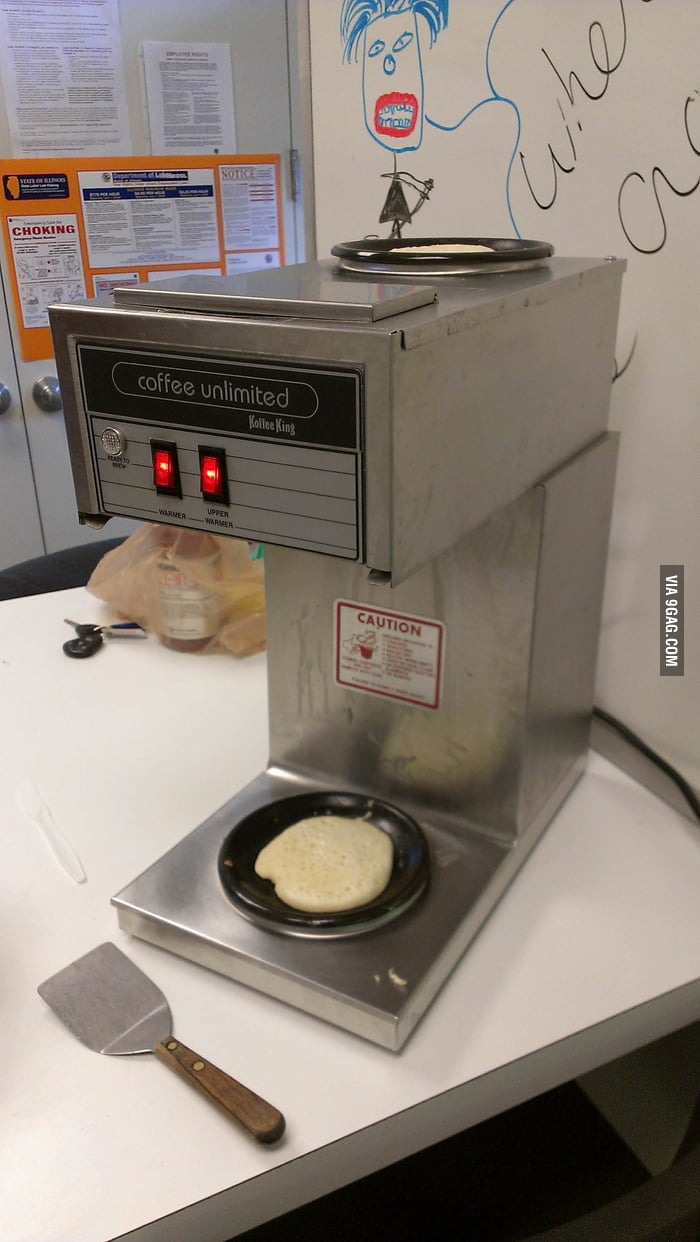 A coworker wanted pancakes today, he improvised.