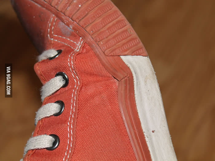 The Achilles Heel of every Converse shoe.