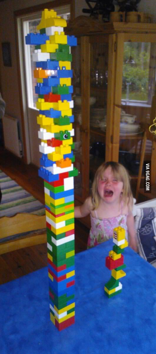 Beat my little cousin pretty hard on LEGO tower tournament.