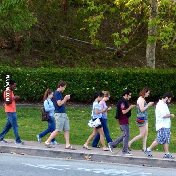 We are all mobile phone zombies.