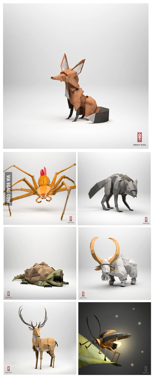 Very realistic origami art