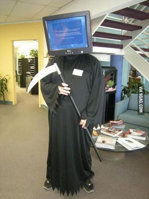 My colleague's costume at an IT party...