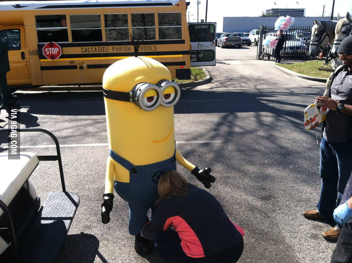 The Minion is enjoying it...