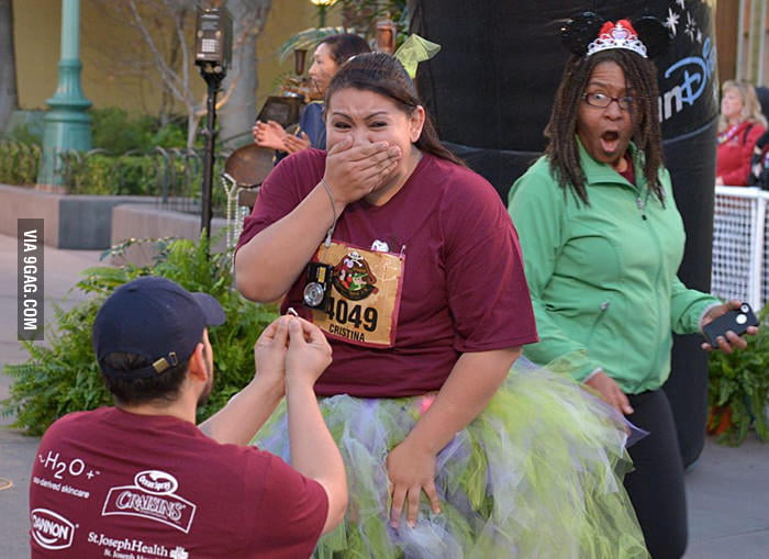 Not sure who was more shocked by this proposal.