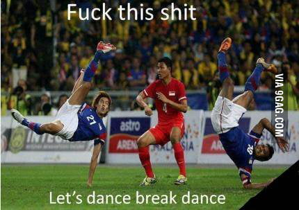 Fu*k football, we want break dance