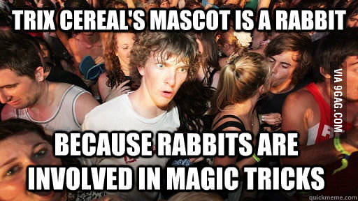 Eating cereal today when I realized...