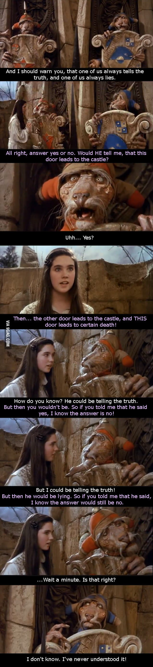 So really, which door was the liar? Mind F*cked as a kid.