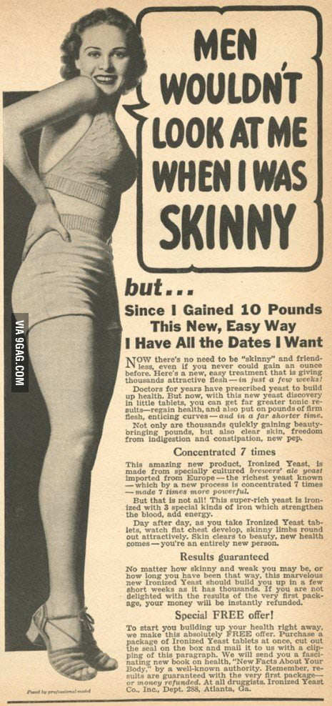 Weight gain ad from 1960