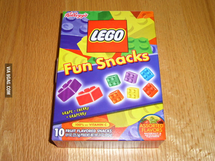 LEGO snacks? You'll shit bricks.
