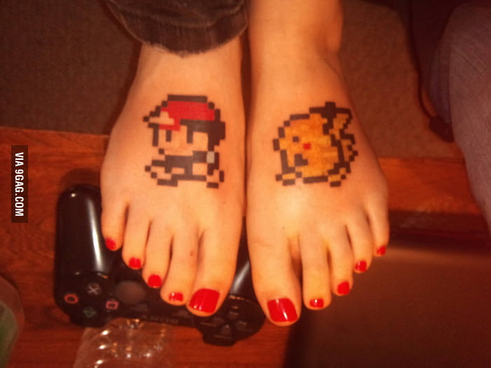 I told her her feet could be famous for a day, too!