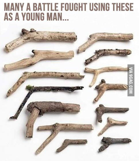 Childhood weapons…