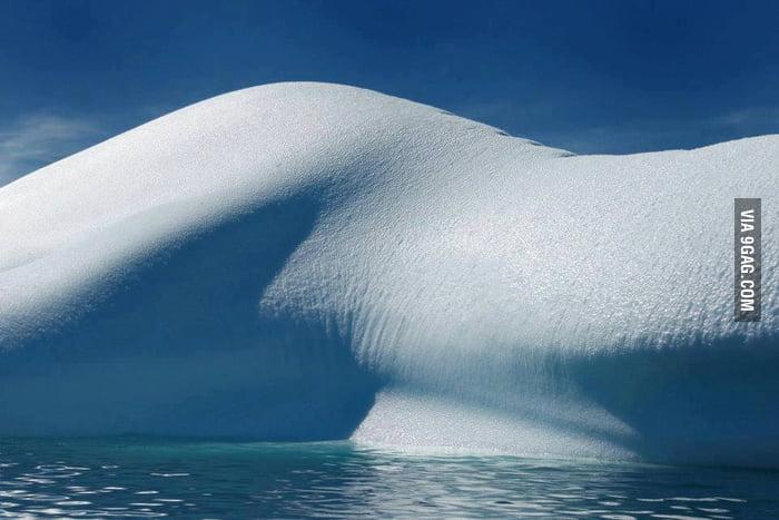 Sexy glacier curves.