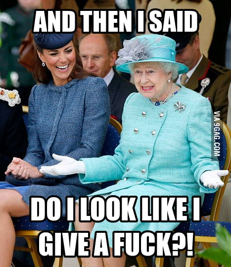 Queen Elizabeth just being herself