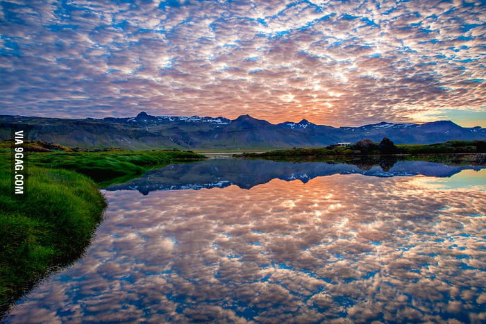 Surreal Reflections in Iceland.