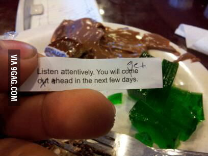 Best fortune cookie ever? Seems legit.