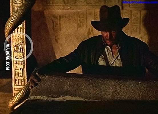 R2D2 and C3PO in Indiana Jones