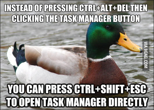 I've been using Ctrl+Alt+Del my whole life...
