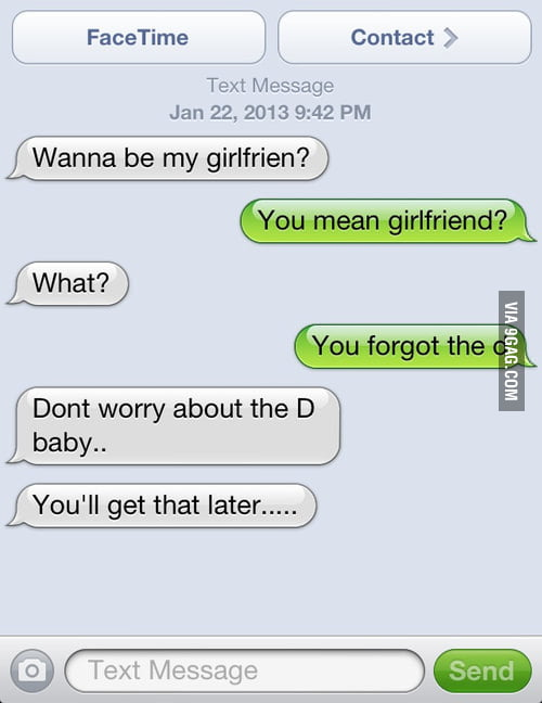 She'll get the D later.
