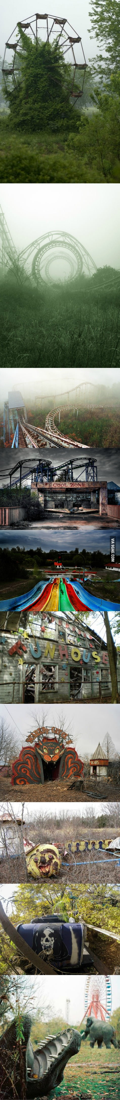 Beautiful and creepy abandoned amusement parks.