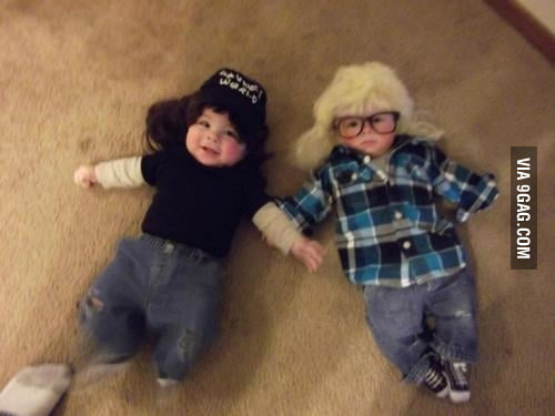 Wayne's world baby version