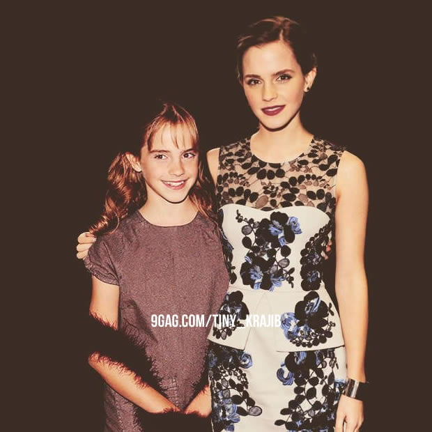 Just Emma Watson with her fan... wait, what?!