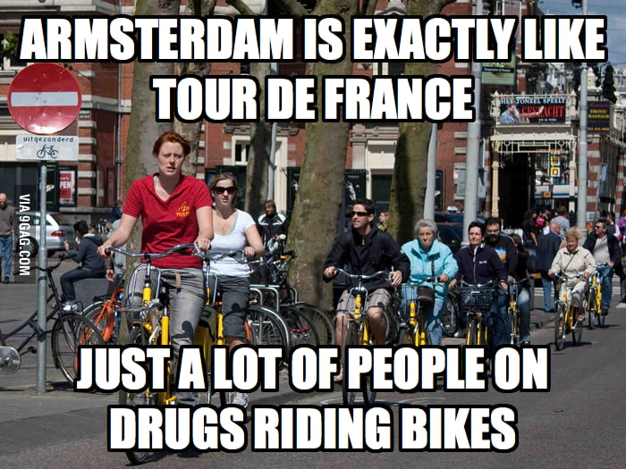 Amsterdam is exactly like Tour de France.
