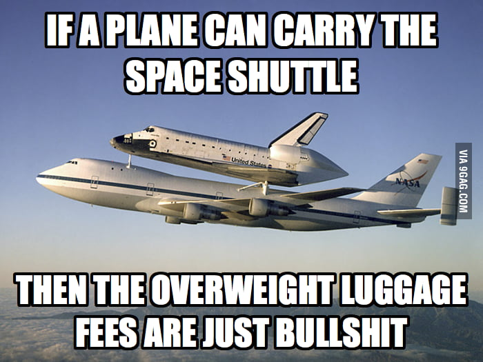 Overweight luggage fees are just bullshit!