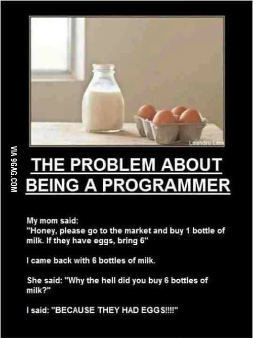 The problem of being a programmer