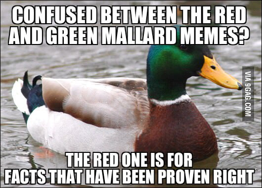 Re: Advice mallard, paradox edition
