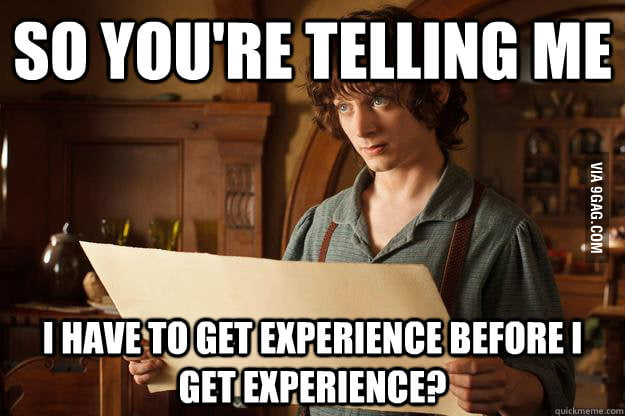 How I feel applying for an entry level job