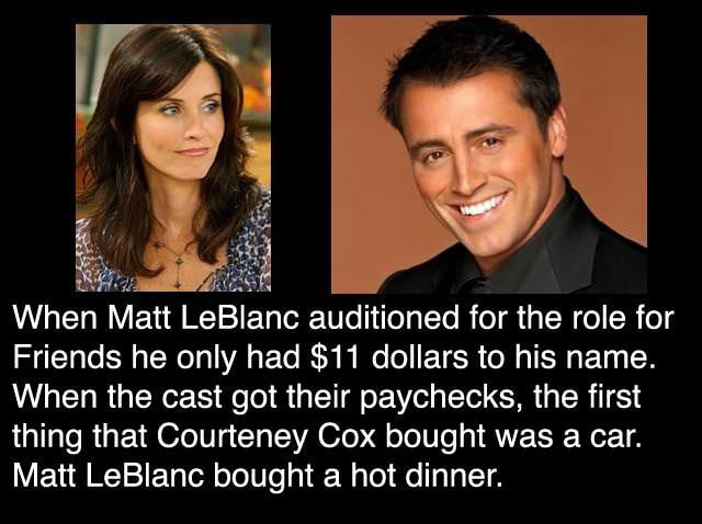 Matt LeBlanc being so Joey.