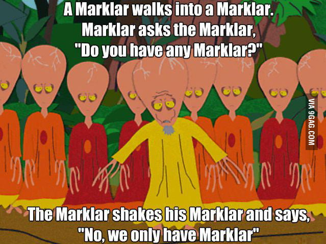 A simple Marklar joke