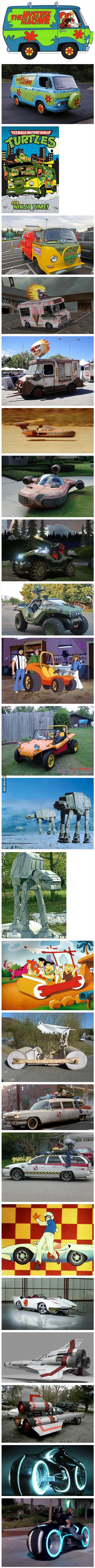 Awesome Fictional Vehicles in Real Life
